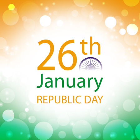 republic day india banner with abstract color of flag at  background Imagens