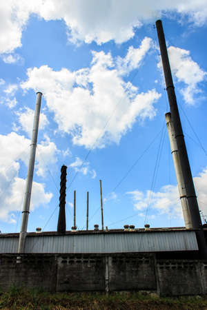 Chimney for emission from animal processing plants  photo