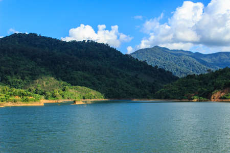 catchment: Reservoir of the valley in the summer  Stock Photo