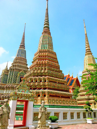 wat pho: Wat pho, the famous temple in Bangkok, Thailand