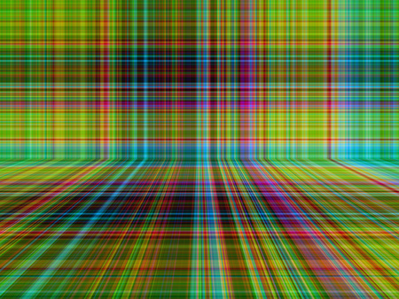 english countryside: Perspective green tone of colored plaid or tartan pattern abstract background