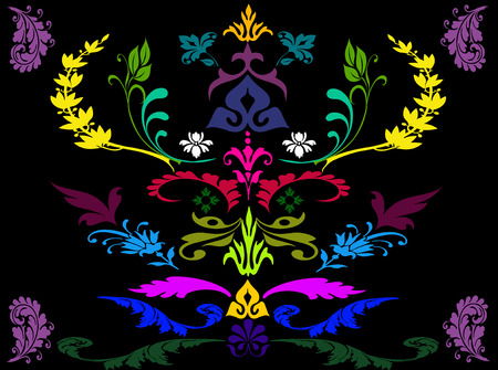 flora: Abstract colorful flora background Stock Photo