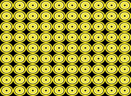 circle shape: Abstract yellow circle shape seamless pattern background Stock Photo