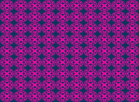 circle shape: Abstract pink isometric circle shape seamless pattern background Stock Photo