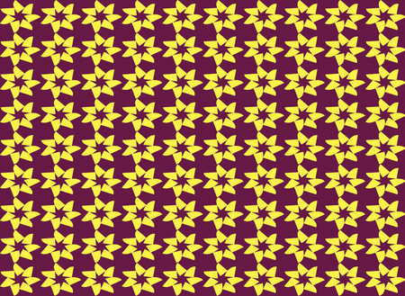 yellow star: Abstract yellow star shape seamless pattern background