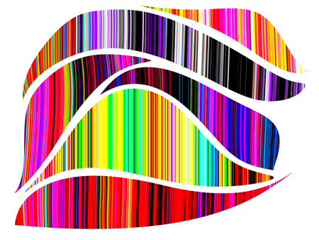 stripped: Abstract colorful stripped curve background