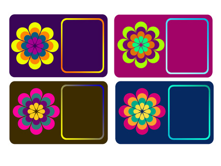 name calling: Flower calling cards  business cards  name cards templates collection Stock Photo