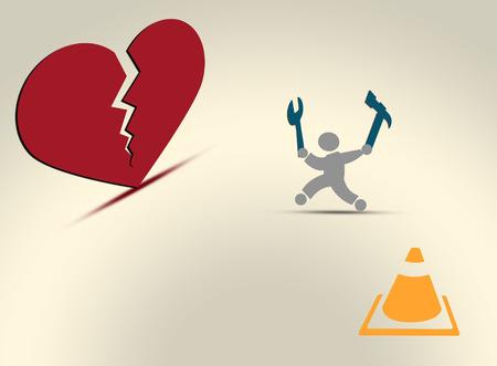 repaired: Broken heart repaired urgently by repairman