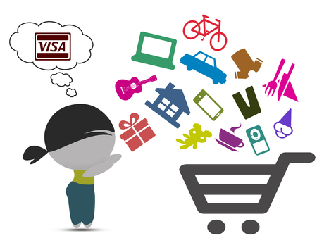 online: Shopping online concept Stock Photo