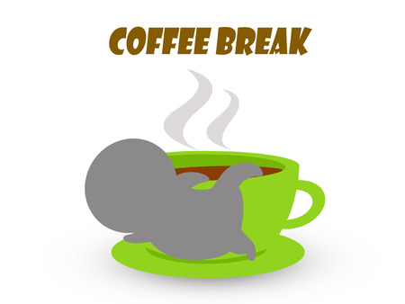break: Coffee break time concept background