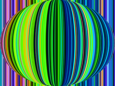 stripped: Abstract rainbow colored layer stripped vertical line in oval shape background