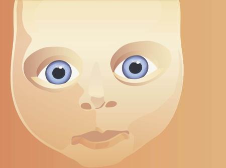 child face stylized