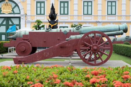 The ancient artillery gun of Thailand