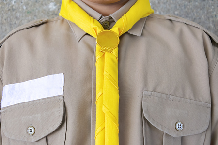 Boy scout, Uniforms,Yellow scarf, brown shirt,costumes worn by students in Thailand.
