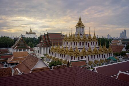 Wat Ratchanadda. It is a place that is important to Buddhism in Thailand, Popular tourist attraction of foreigners. If traveling to Bangkok. Stok Fotoğraf - 130386244