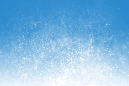 Blue bokeh background. Winter elegant bokeh background. Seasonal cooling light decorative abstract design element.