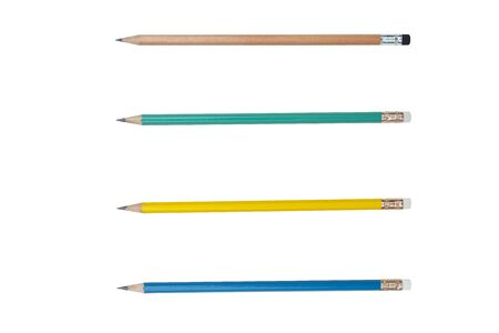 Pencil 4 bars isolated on pure white background