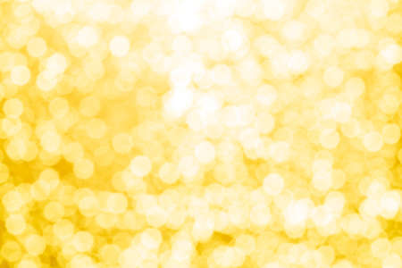 gold abstract background with bokeh defocused lights Foto de archivo