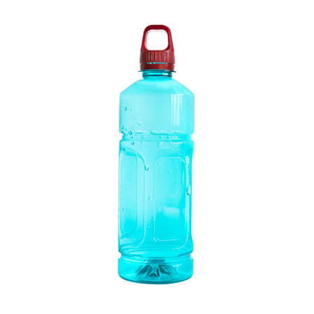 Empty plastic bottle Isolated on white background. Used plastic bottle for recycling.