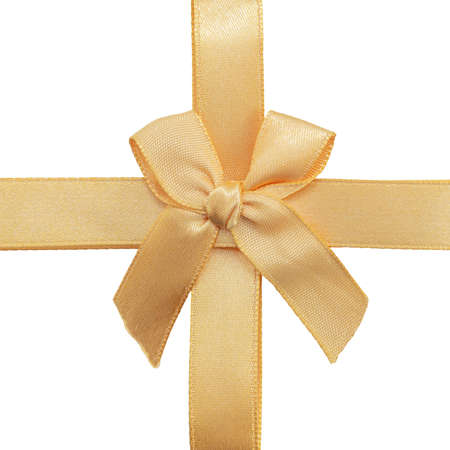 Gift ribbon with bow isolated on white background