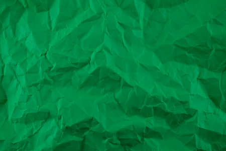 Minimal green crumpled paper texture background for Design. Copy space for text or work 版權商用圖片
