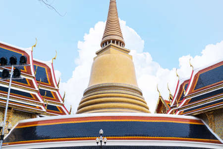 Wat Ratchabophit which is Royal Buddha temple located in Old quarter Bangkok Thailand