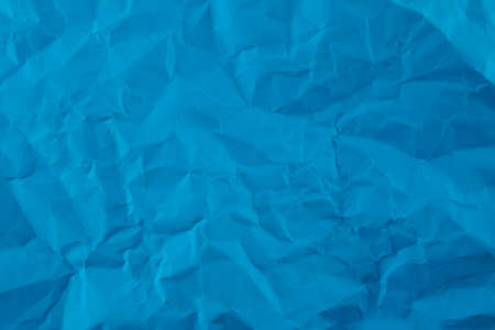 blue plastic wrinkle background, abstract rough texture surface