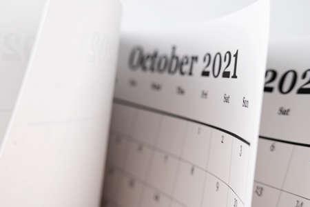 Calendar planner for the month October 2021