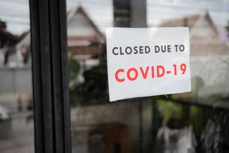 Business office or store shop is closed, bankrupt business Stock Photo