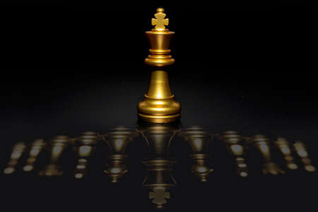 Chess board game, Concept for business strategy and tactic battle. Stock Photo