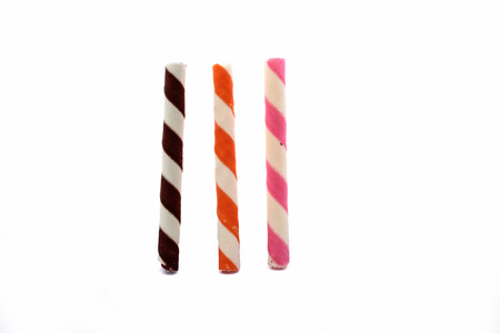 Sweet crispy straws photo