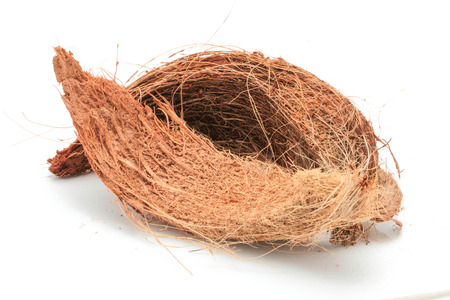 Coconut Coir Isolated on White Background photo