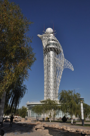 jiayuguan pass tower: Meteorological tower