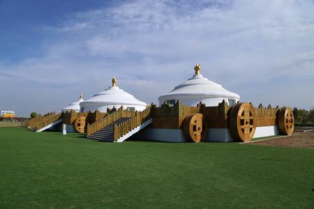 mongolia: Yurts at Mongolia Editorial