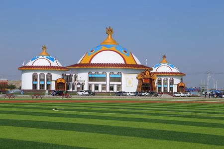 mongolia: Stadium at Bayannur, Mongolia