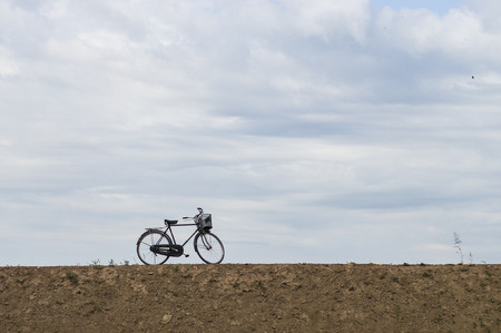 bike parking: bike parking beside road