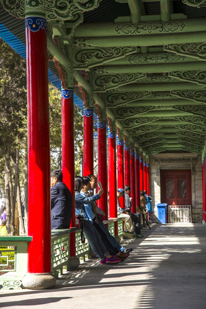 architectural style: Antique architectural style walkway Editorial