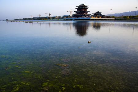historical reflections: lake side Landscape