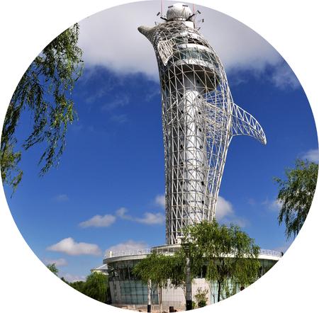 dolphin shape Meteorological tower 新聞圖片