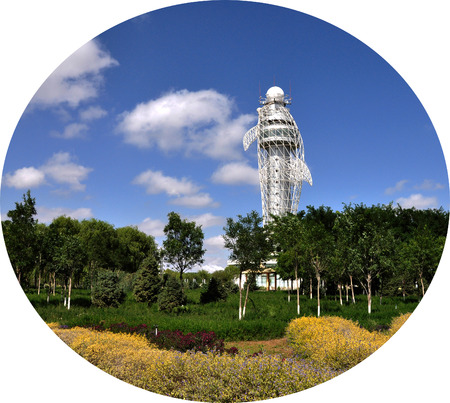 dolphin statues meteorological tower 新聞圖片
