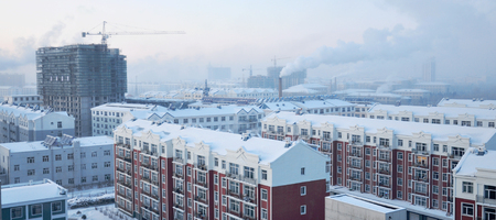 Hulun Buir city snow scenery
