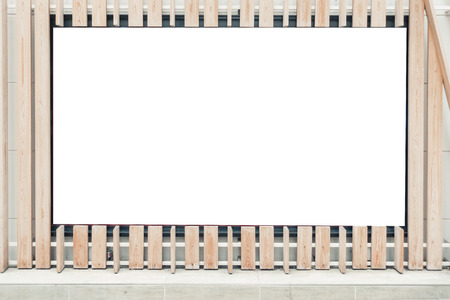Mockup image of Blank billboard white screen posters and led in the subway station for advertising - Image