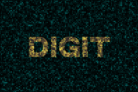 Abstract technology digital backgrounds with a word about computer science such as linux database. 3D rendering. - Illustration