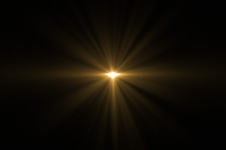 Digit lens flare with bright light isolated with black background. Used for texture and material. 3d rendering - Illustration