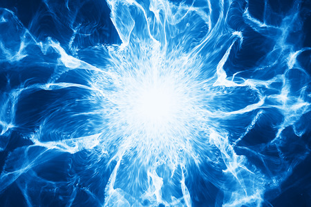 Abstract energy ball strom with fire and power. Look like a flower. Nuclear science and technology concept. Used for background or graphic source. 3d rendering - Illustration
