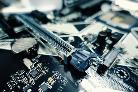 Placa base y procesador de computadora. Ciencia y tecnología digitales. - imagen