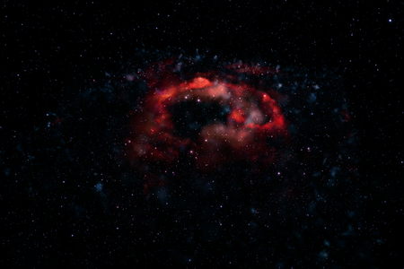 3d rendering.Colorful galaxy in space, beauty of universe, cloud of star, isolated with black background. - Illustration Stock Photo