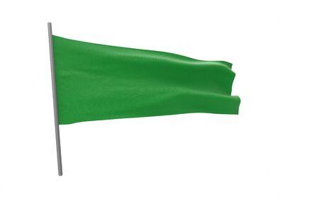 Illustration of a waving flag of Libya. 3d rendering.