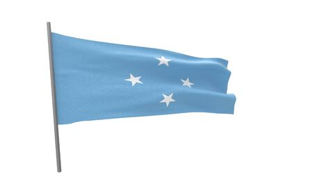 Illustration of a waving flag of Micronesia. 3d rendering. Stock fotó