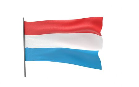Illustration of a waving flag of Luxembourg. 3d rendering. Stock fotó